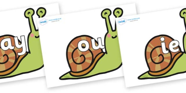 Phase 5 Phonemes on Snails - Phonemes, phoneme, Phase 5, Phase five, Foundation, Literacy, Letters and Sounds, DfES, display