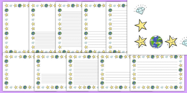 Twinkle, Twinkle, Little Star Page Borders Pack - nz, new zealand, nursery rhyme, page borders, twinkle twinkle little star