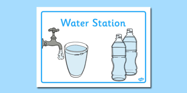 Water Station Display Poster - water station, display poster, water, station, display, poster