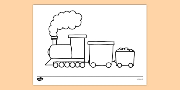 Basic Train Drawing Templates - basic, train, drawing, template, colouring, colour, transport