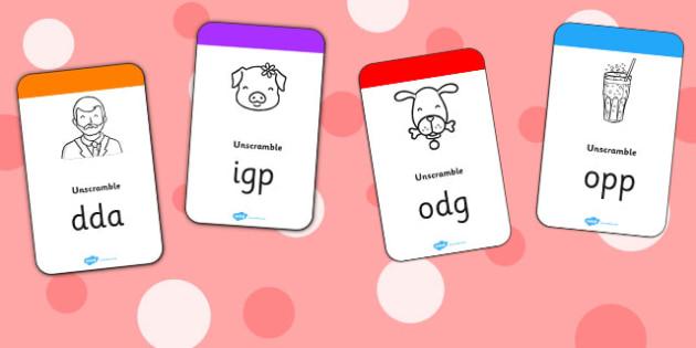 CVC Flashcards - cvc, flashcards, activity, activities, cards