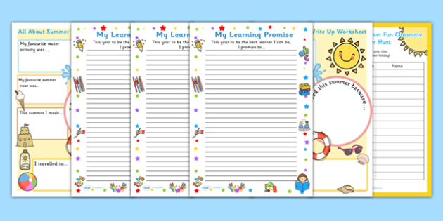 ROI Infant School Back to School Activity Pack