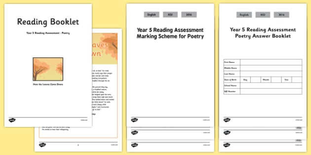 Year 5 Reading Assessment: Poetry Term 2 - year 5, reading, assessment, poetry, term 2