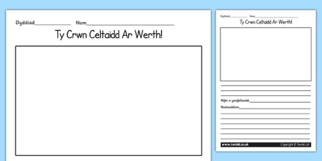 Gweithgaredd Ysgrifennu -Tŷ Crwn Celtaidd Ar Werth - welsh, wales, celtic, roundhouse