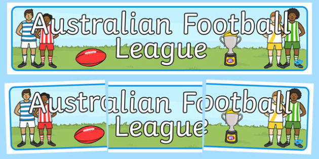 Australian Football League Display Banner - header, AFL, sport