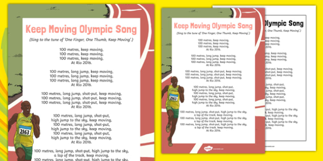 Keep Moving Olympic Song