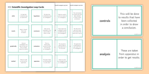 Scientific Investigation Loop Cards