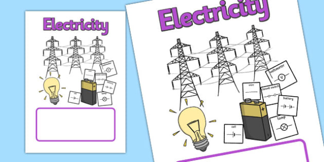 Electricity Topic Book Cover - electricity, topic, book cover, book, cover