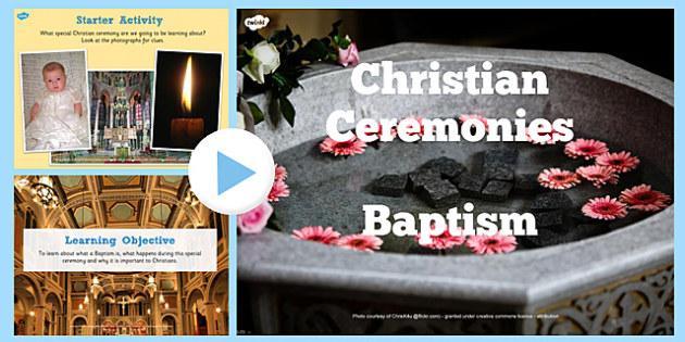 Christian Baptism Lesson Teaching Pack - religion, christianity