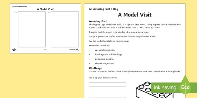 A Model Visit Activity Sheet