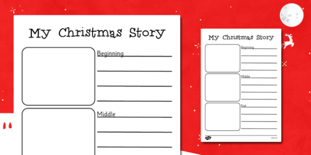 My Christmas Story Writing Frames - my christmas story, christmas, writing frames, writing aid, writing guides, writing templates, line guides, guides