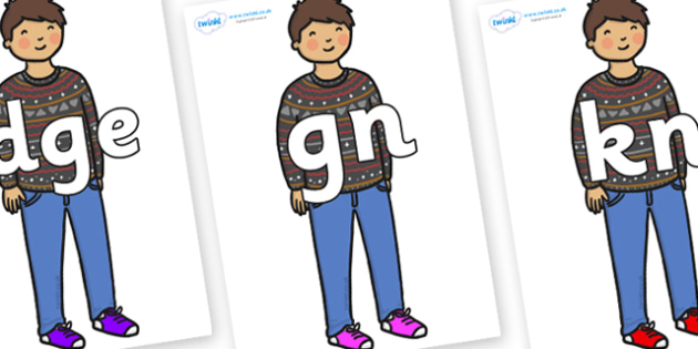 Silent Letters on Little Boy - Silent Letters, silent letter, letter blend, consonant, consonants, digraph, trigraph, A-Z letters, literacy, alphabet, letters, alternative sounds