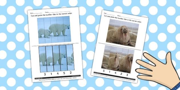 Polar Regions Photo Number Sequencing Puzzle - polar, puzzle
