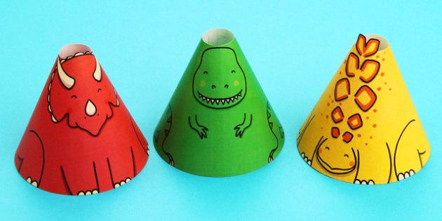 Dinosaur Cone Characters - dinosaur, cone, character, craft