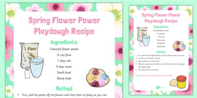 Spring Flower Power Playdough Recipe - Spring, flowers, playdough recipe, playdough, recipe, flower power