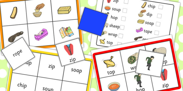 Final 'P' Sound Bingo - games, game, activity, activities, matching