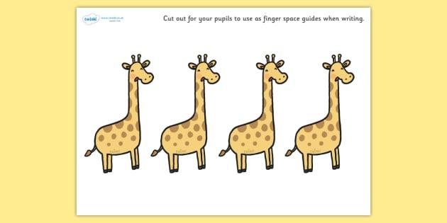 Safari Themed Giraffe Finger Spacers - safari, giraffe finger spacers, safari finger spacers, giraffes, safari animal finger spacers, safari animals