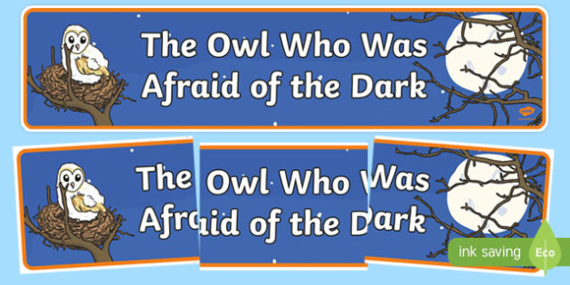 The Owl Who Was Afraid of the Dark Display Banner-Scottish