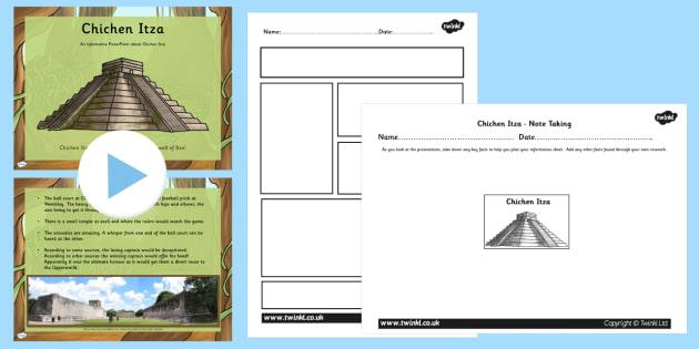 Mayan Civilization Chichen Itza Lesson Teaching Pack PowerPoint