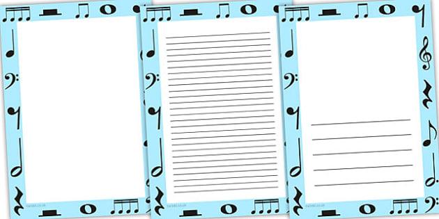Music Page Borders - music, listening, listen, borders, border