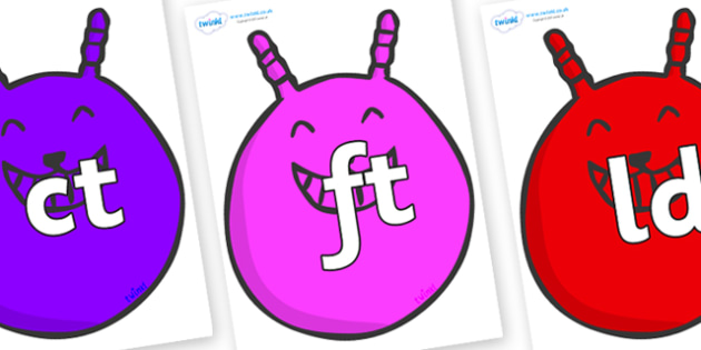Final Letter Blends on Space Hoppers - Final Letters, final letter, letter blend, letter blends, consonant, consonants, digraph, trigraph, literacy, alphabet, letters, foundation stage literacy