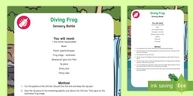 Diving Frog Sensory Bottle