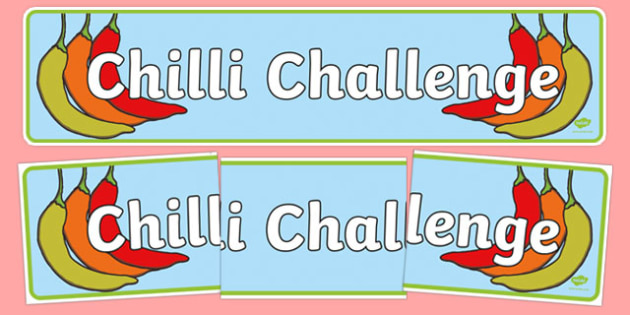 Chilli Challenge Display Banner - chilli challenge, display banner, display, banner