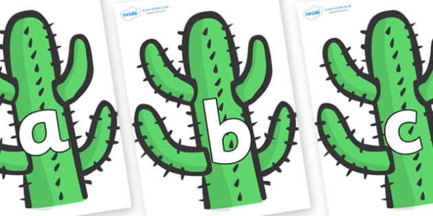 Phoneme Set on Cactus - Phoneme set, phonemes, phoneme, Letters and Sounds, DfES, display, Phase 1, Phase 2, Phase 3, Phase 5, Foundation, Literacy