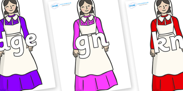Silent Letters on Florence Nightingale - Silent Letters, silent letter, letter blend, consonant, consonants, digraph, trigraph, A-Z letters, literacy, alphabet, letters, alternative sounds