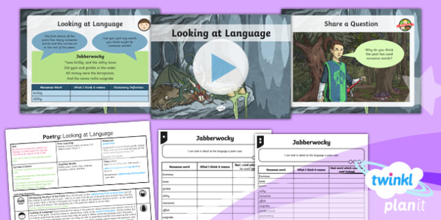 PlanIt Y5 Animals: Jabberwocky Lesson Pack Poetry (2)