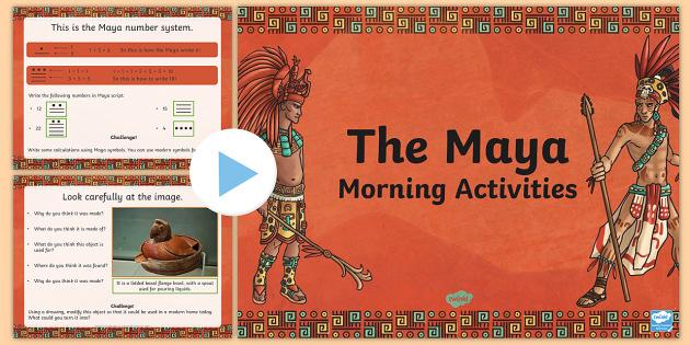 1 Week Maya Civilization Themed Morning Activities UKS2 - starter