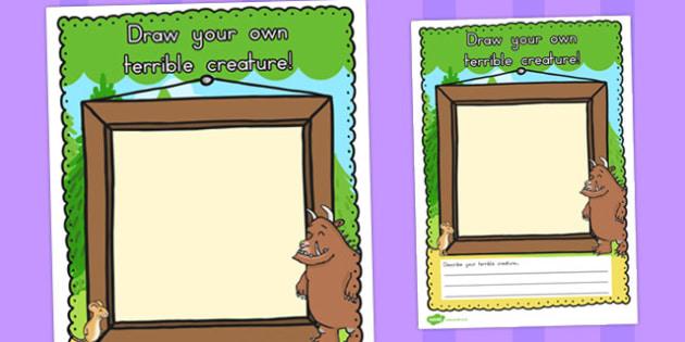 Draw Your Own Terrible Creature Gruffalo - australia, gruffalo