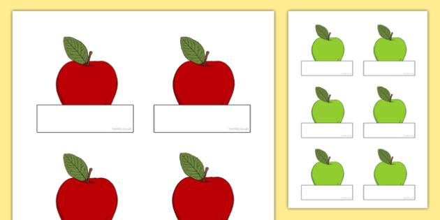 Editable Apples Self Registration - apples, self registration