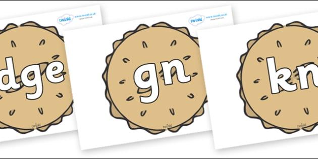 Silent Letters on Pies - Silent Letters, silent letter, letter blend, consonant, consonants, digraph, trigraph, A-Z letters, literacy, alphabet, letters, alternative sounds