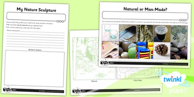 Art: Nature Sculptures KS1 Unit Home Learning Tasks