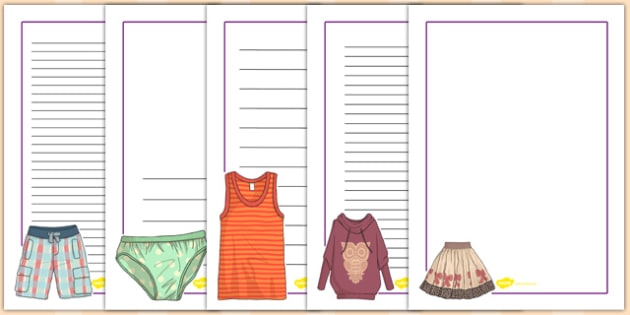 French Clothes 1 Page Borders - french, clothes, page, borders