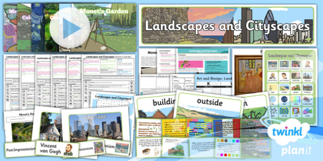 Art and Design: Landscapes and Cityscapes KS1 Unit Pack
