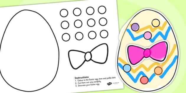 Cutting Skills Easter Egg Activity - cutting skills, easter, egg