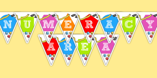 Numeracy Area Display Bunting - numeracy area, bunting, themed bunting, display bunting, display, bunting flags, flag bunting, bunting, paper bunting