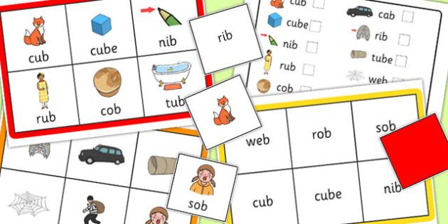 Final B Sound Bingo - final, b, sound, bingo, game, activity