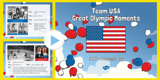 Team USA: Great Olympic Moments PowerPoint