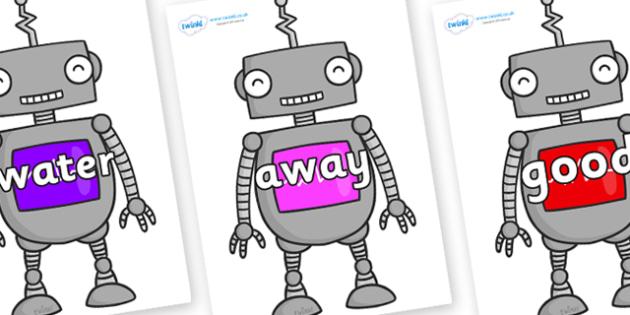 Next 200 Common Words on Robots - Next 200 Common Words on  - DfES Letters and Sounds, Letters and Sounds, Letters and sounds words, Common words, 200 common words