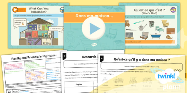 French: Family and Friends: In My House Year 5 Lesson Pack 4
