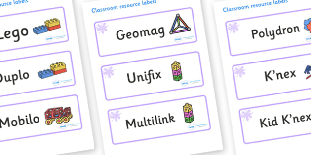 Lilac Themed Editable Construction Area Resource Labels - Themed Construction resource labels, Label template, Resource Label, Name Labels, Editable Labels, Drawer Labels, KS1 Labels, Foundation Labels, Foundation Stage Labels