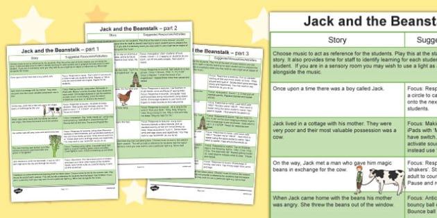 Jack and the Beanstalk Sensory Story - australia, fairy, story, traditional tales, story, senses, SEN