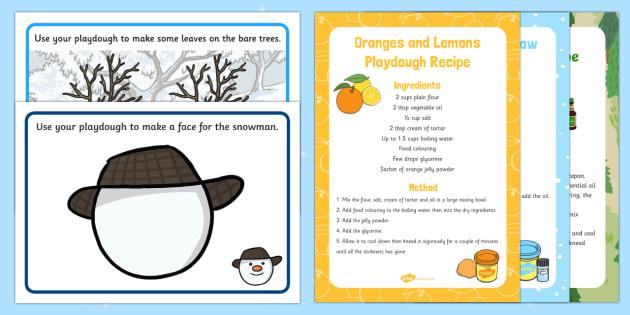 Playdough Recipe and Mat Pack