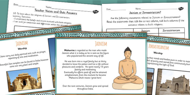 Jainism and Zoroastrianism Lesser Known Religions Lesson Teaching