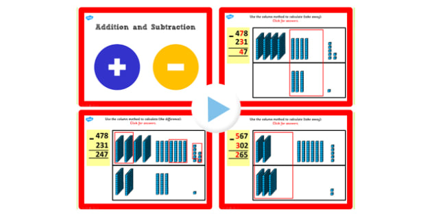 Y3 Add Subtract Lesson 4b 3 Digit Numbers 3 Digit No Exchanging
