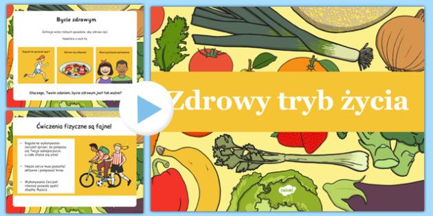 Prezentacja PowerPoint Zdrowy tryb życia po polsku