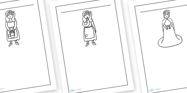 Cinderella Writing Frames - writing frame, frame, writing, writing aid, cinderella, cinderella frames, cinderella themed writing frames, writing template, template, literacy
